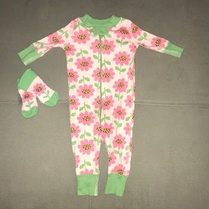 Floral Hanna jamma with matching socks